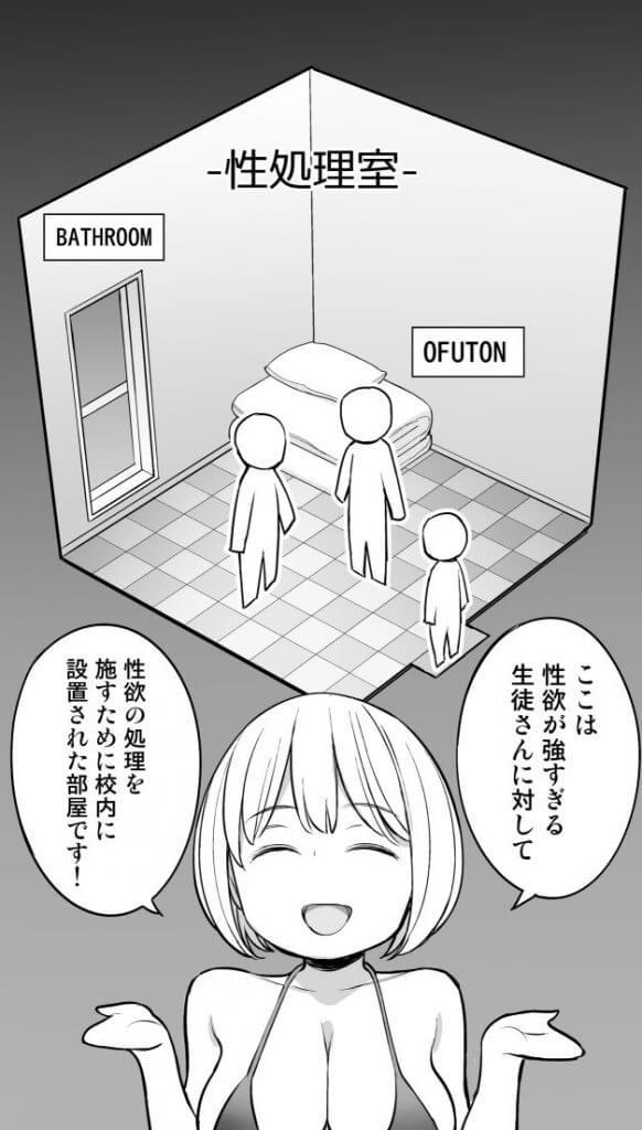 放課後の性処理室のNTRエロ同人誌